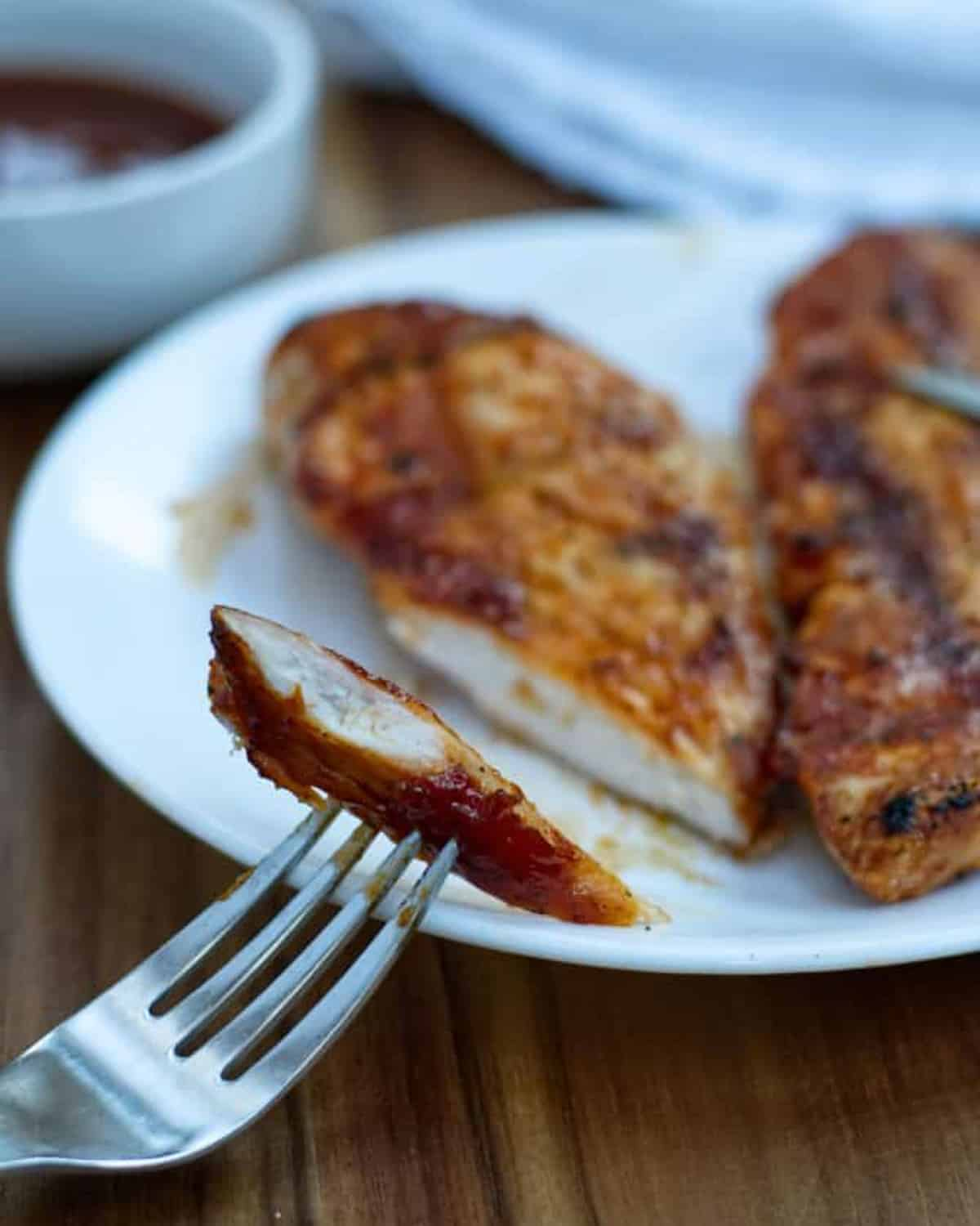 grilled chicken with kickass bbq sauce on it