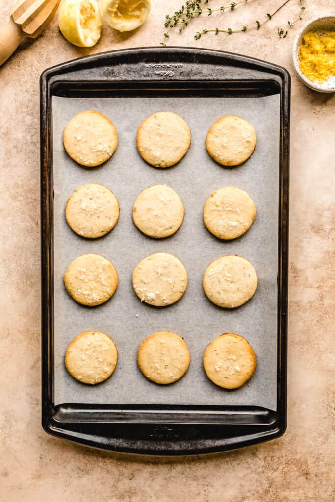These buttery lemon shortbread cookies bake up in no time for you to enjoy.