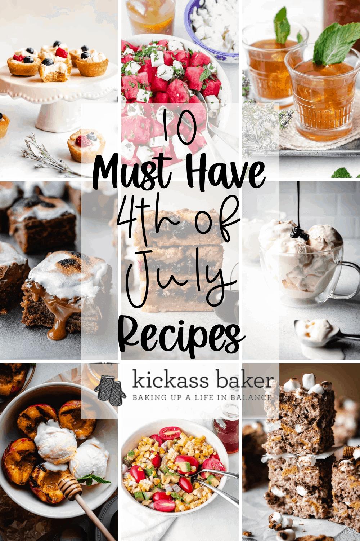 10 Must Have 4th of July Recipes   kickassbaker.com