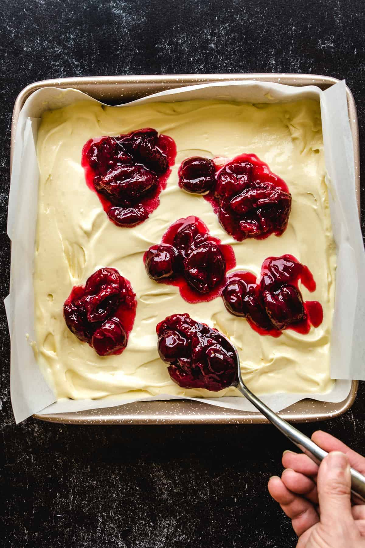 Adding bourbon bing cherries to your ice cream base makes this a delicious dessert