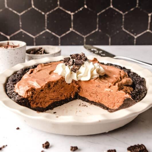 No Bake Nutella Pie with Oreo Crust