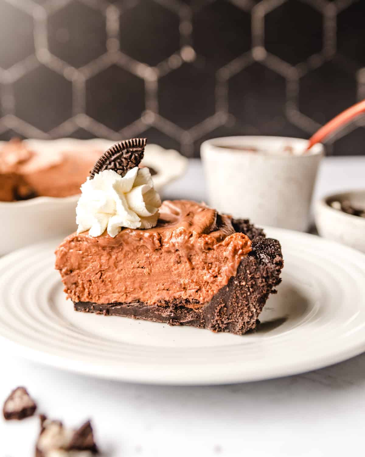This quick and easy No Bake Nutella Pie is the perfect way to end your day.