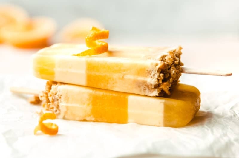 Creamsicles with Graham Cracker Crumble