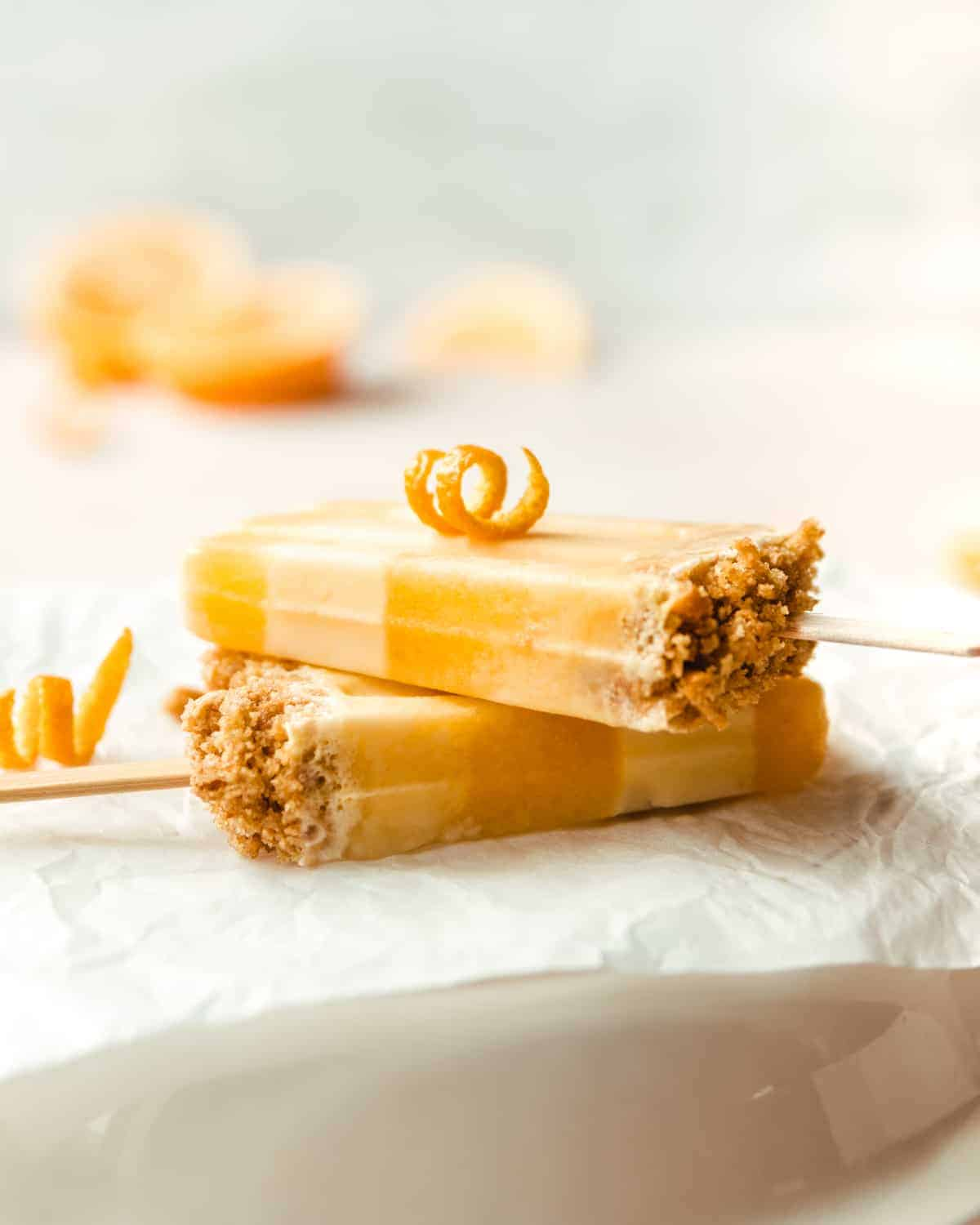 Add a touch of crunch to your creamsicles with this graham cracker crumble.
