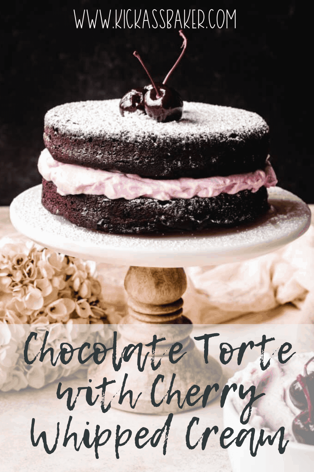 Make this delicious chocolate torte with bourbon cherry whip cream for your next celebration or just because..