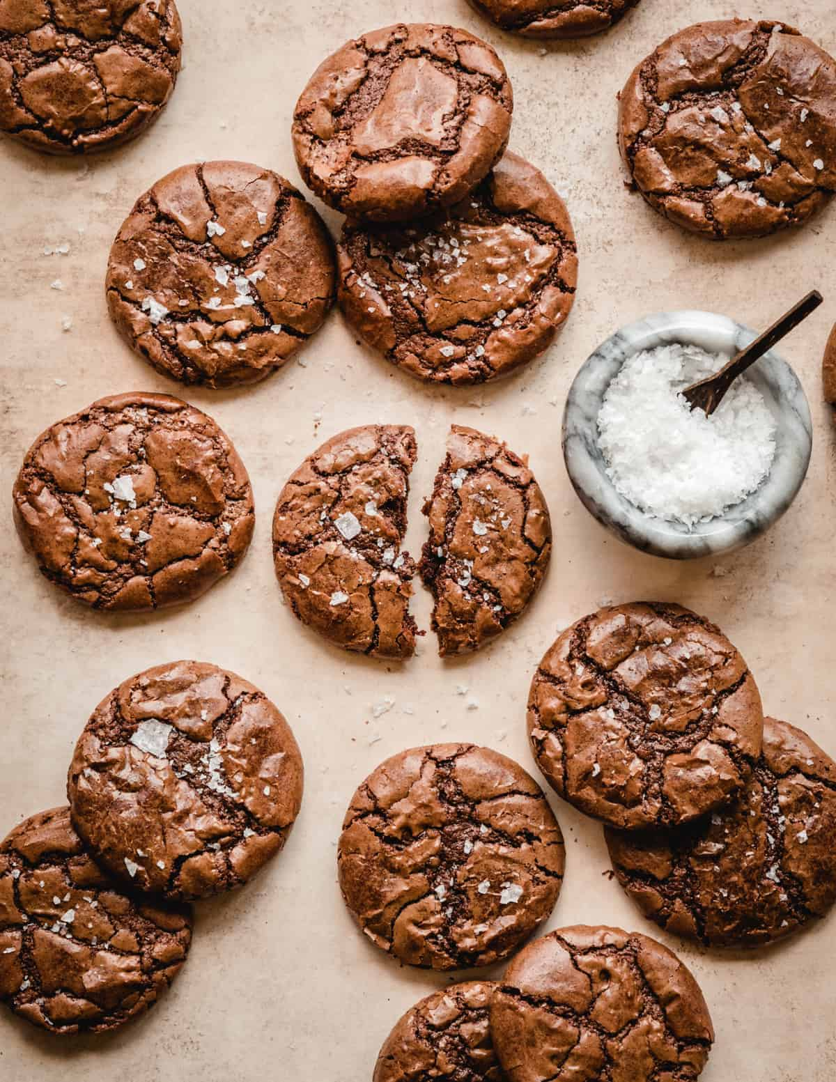the perfect recipe for making chewy brownie cookies