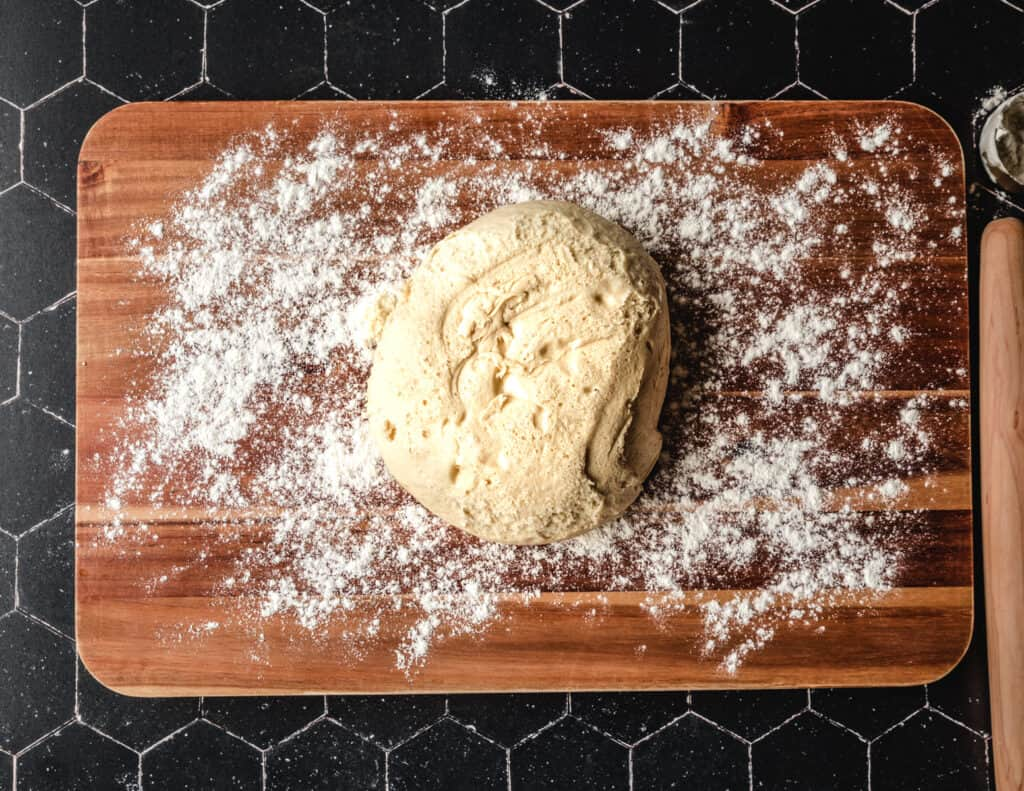 It's important to let the dough rise when making cinnamon rolls.