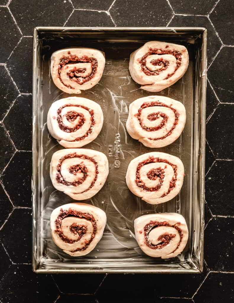 Make these cinnamon rolls with a fig and walnut filling the night before you want to enjoy them.