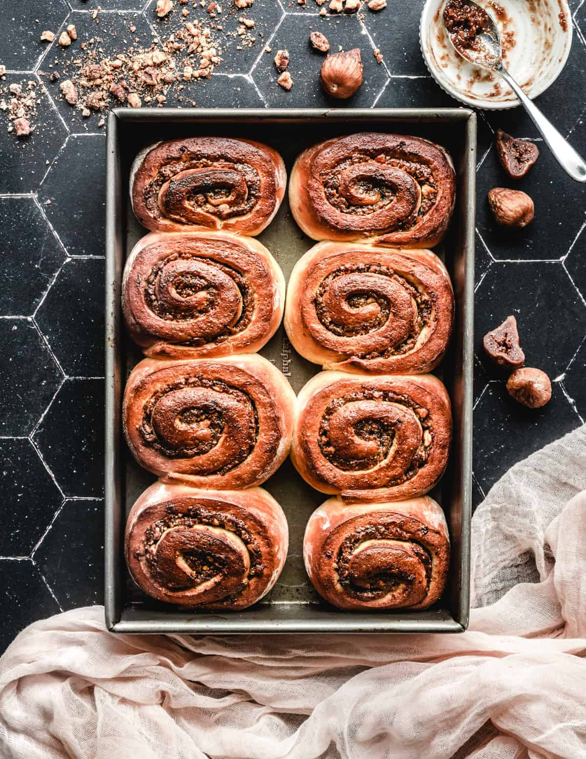 These honey fig cinnamon rolls with walnuts aren't as hard to make as you might think.