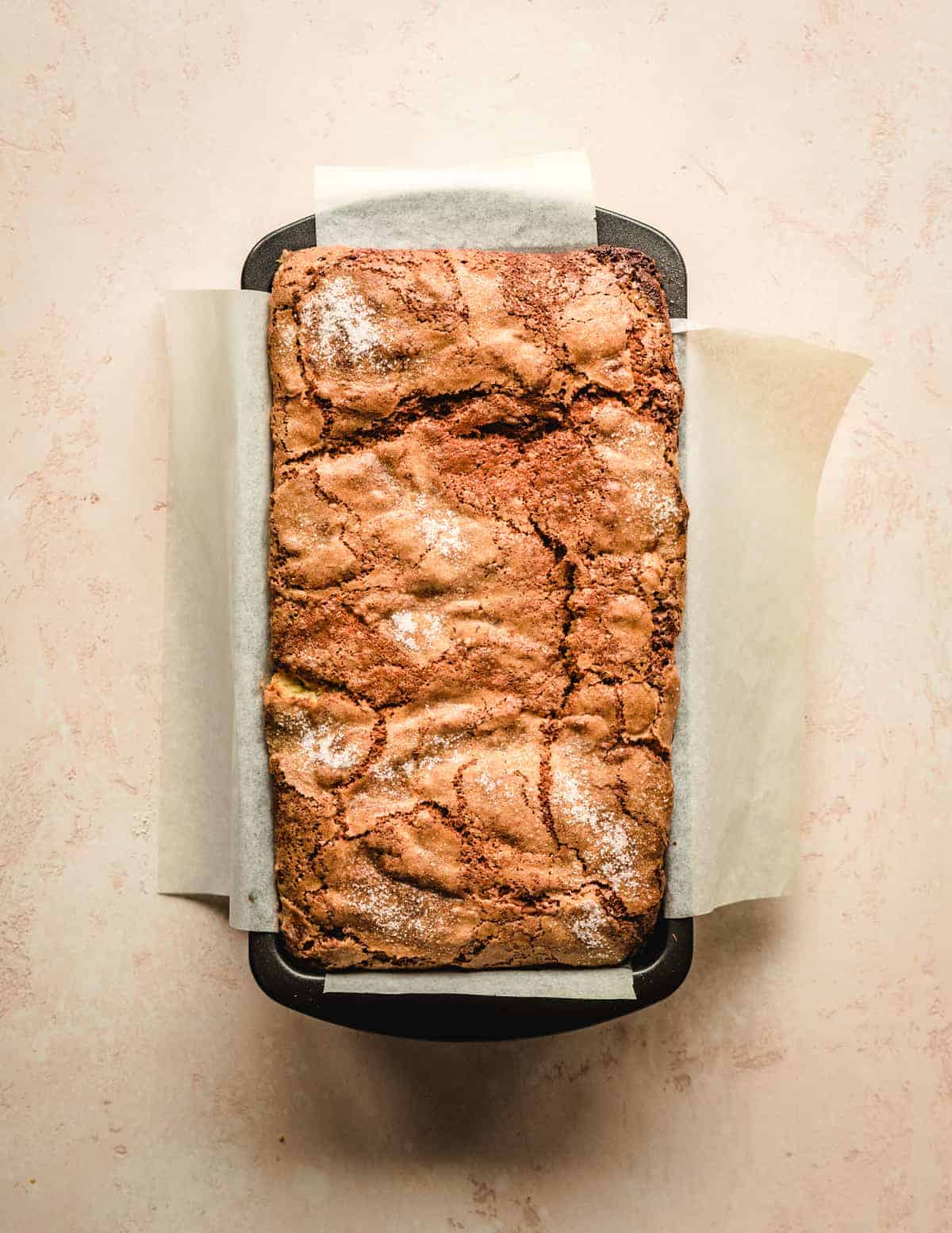 As hard as it will be to wait, let this cream cheese stuffed banana bread cool before slicing.