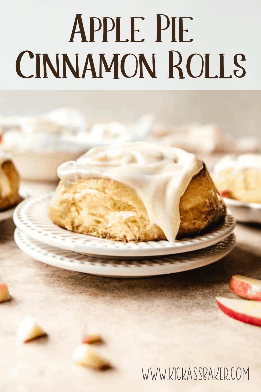 Enjoy these overnight apple pie cinnamon rolls for breakfast tomorrow morning!