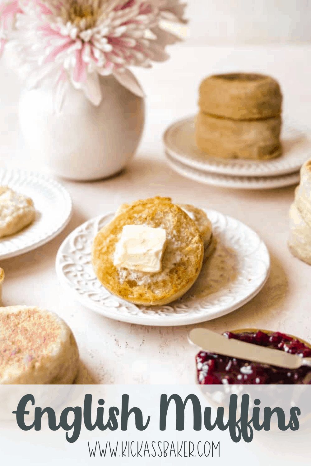 English Muffins pin for Pinterest