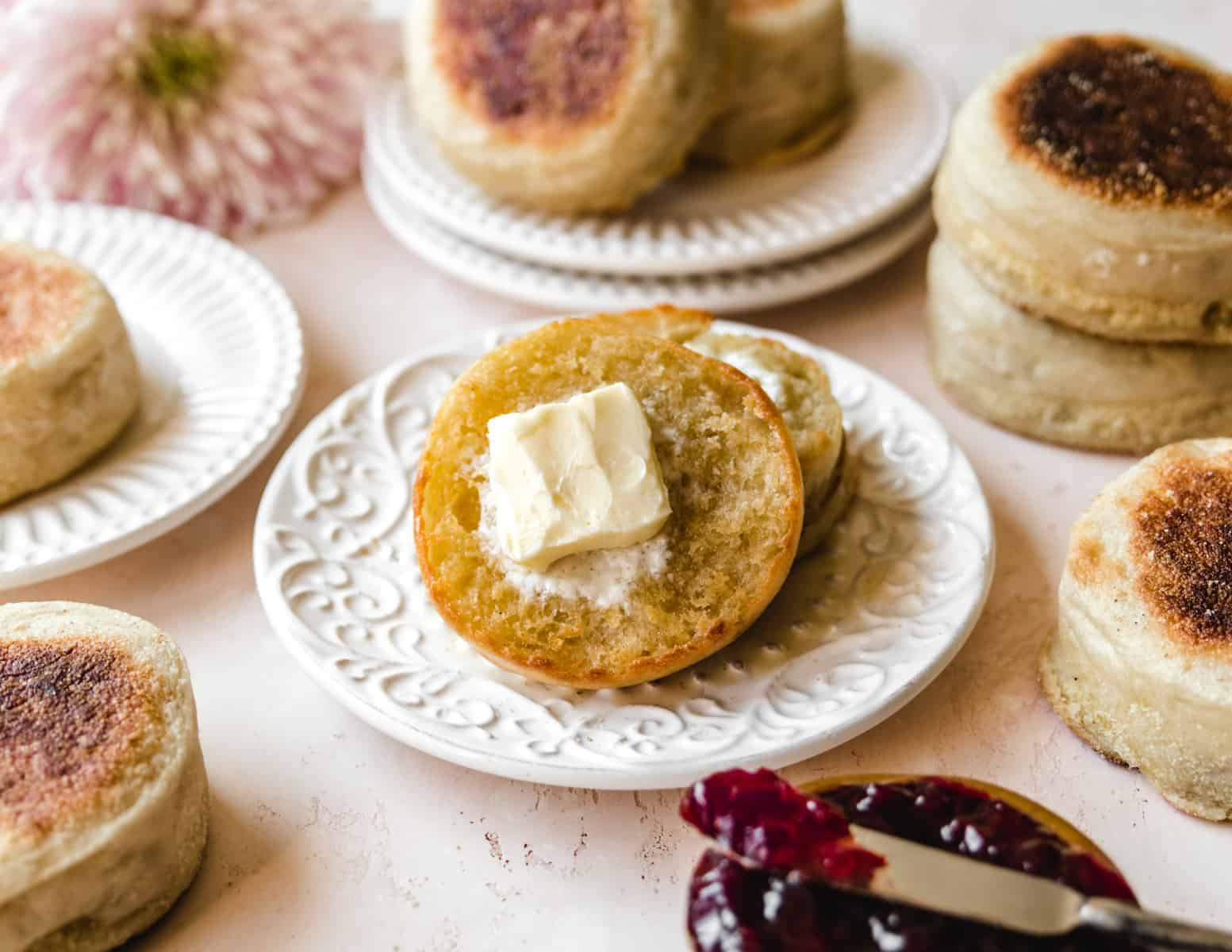 These easy English muffins are the perfect breakfast and brunch staple.