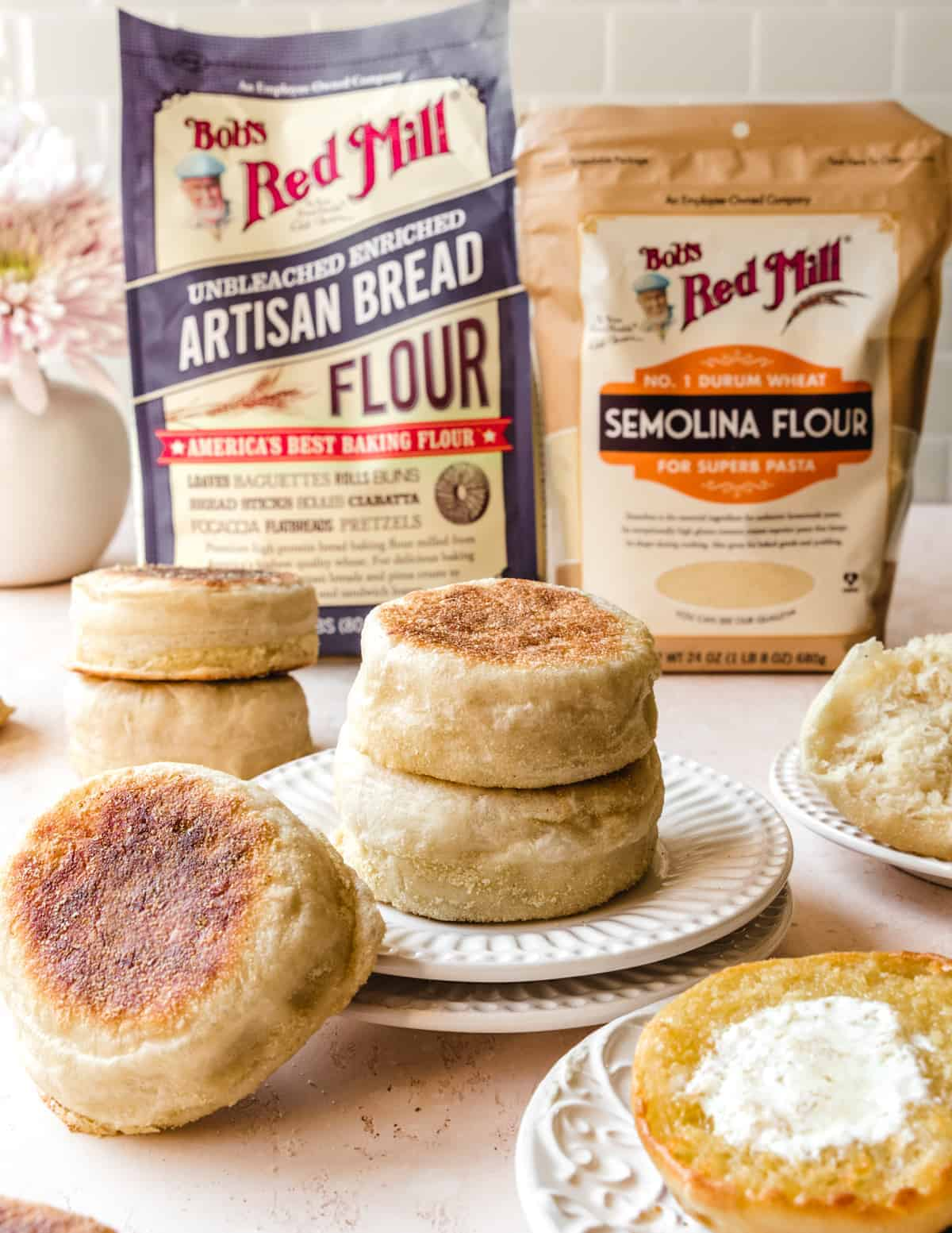 Use these English muffins for breakfast sandwiches for breakfast or pizza for dinner.