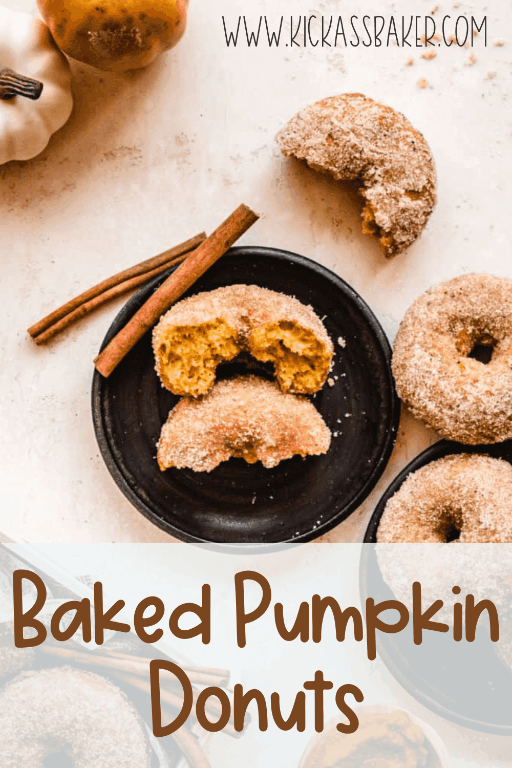 These moist cake pumpkin donuts are a quick and easy fall breakfast you'll enjoy all season long.
