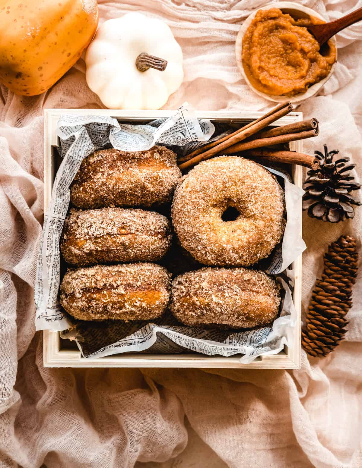 Make a batch of these baked pumpkin donuts to share at the pumpkin patch.
