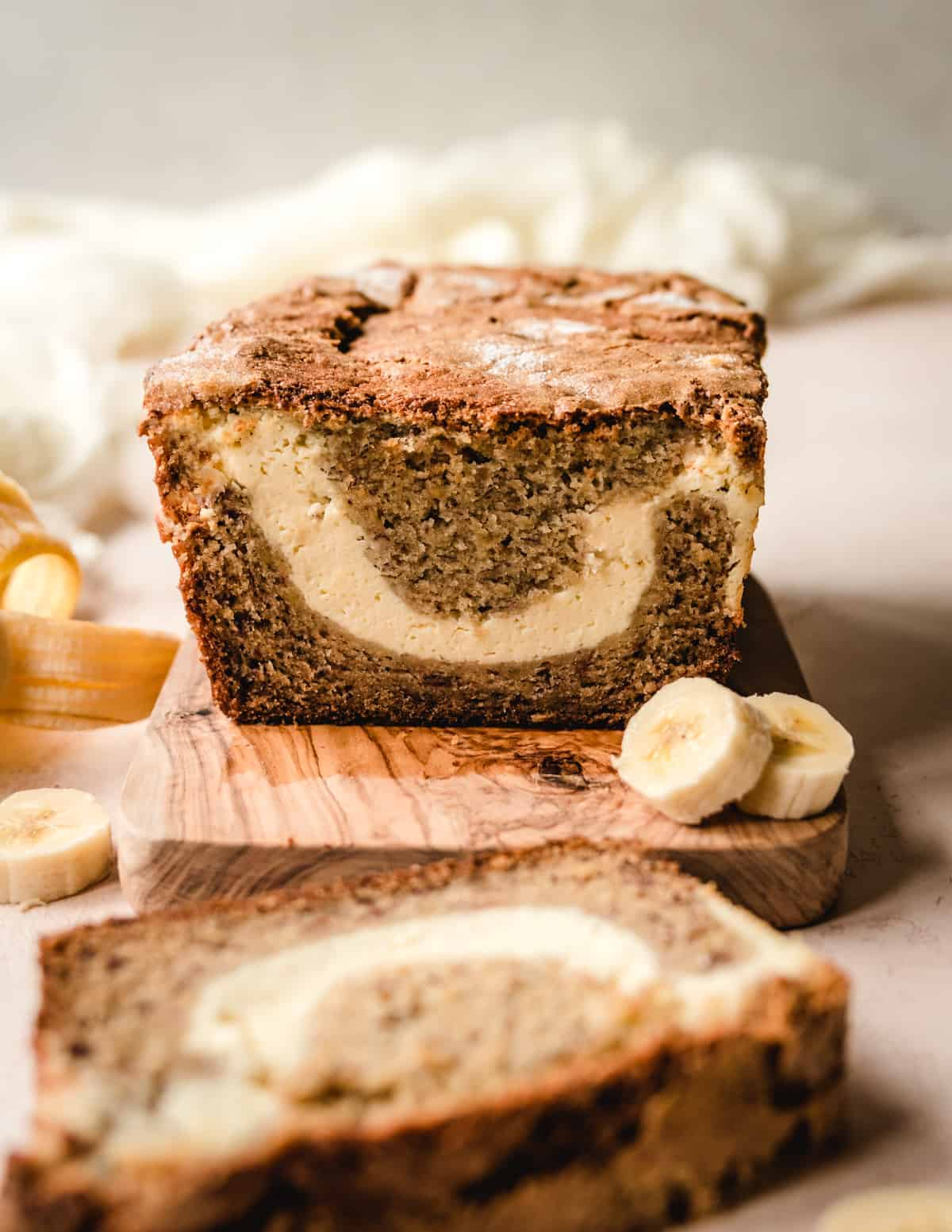 You might want to make two loaves of this banana bread with a cream cheese filling!