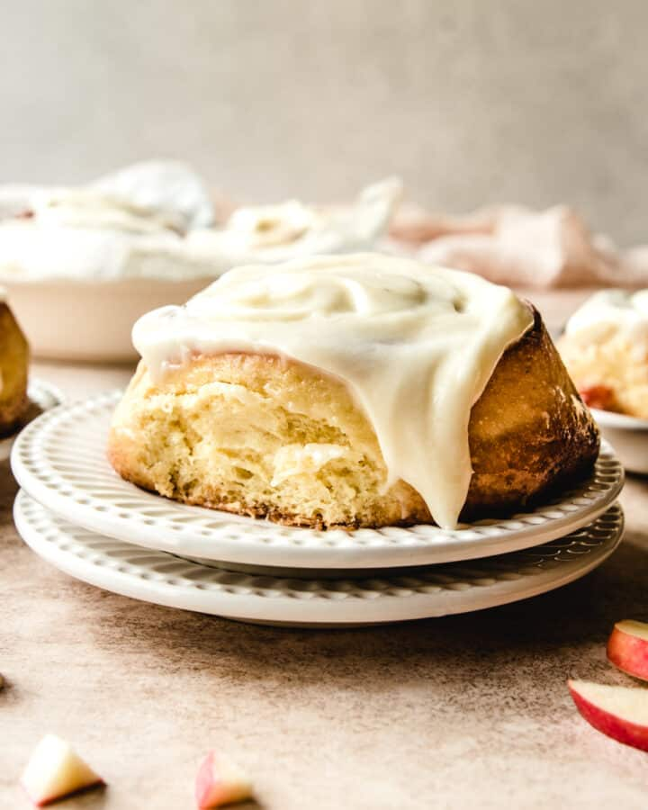 Make these delicious apple pie cinnamon rolls for breakfast all year long. They're not just for fall!