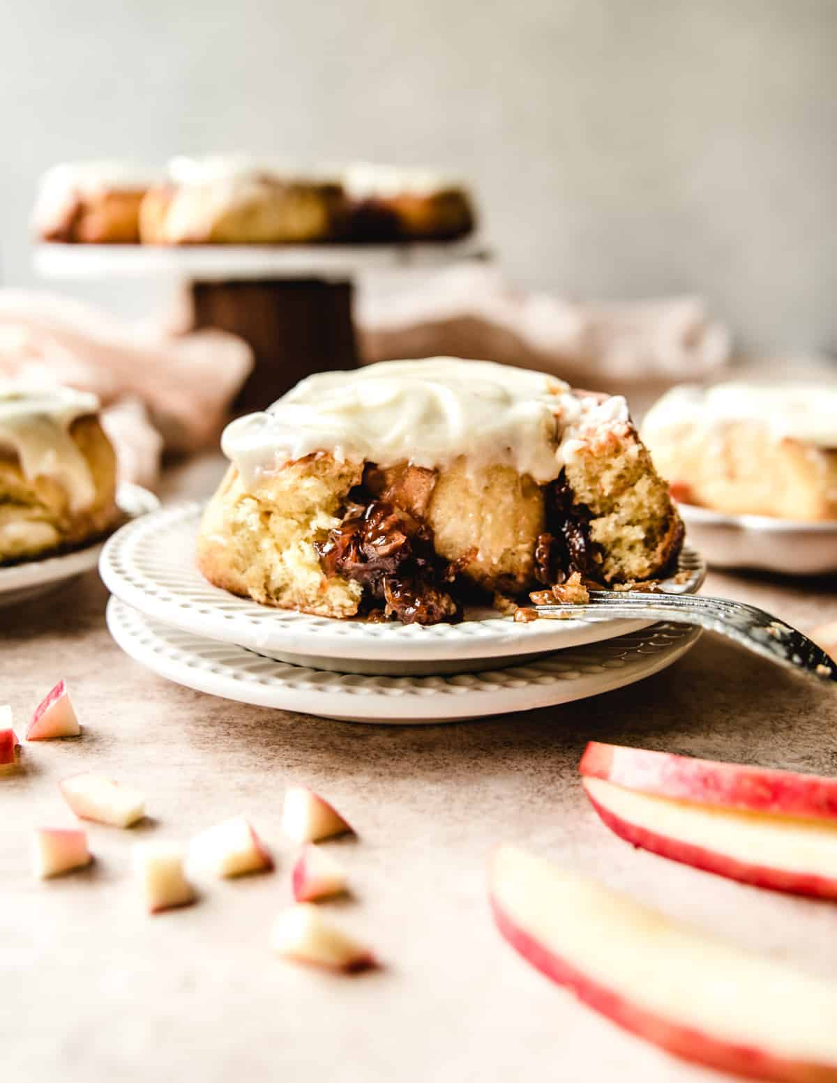 These delicious make ahead apple pie cinnamon rolls are the perfect fall breakfast dish.