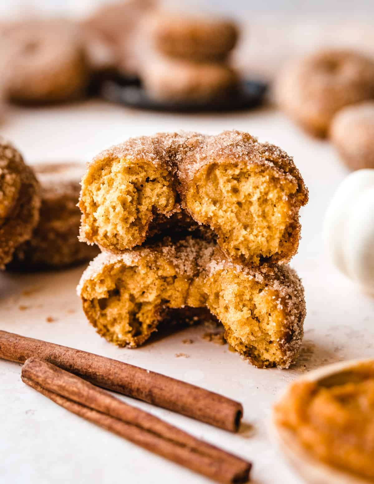 These baked pumpkin donuts are the perfect balance of spice and sweetness.