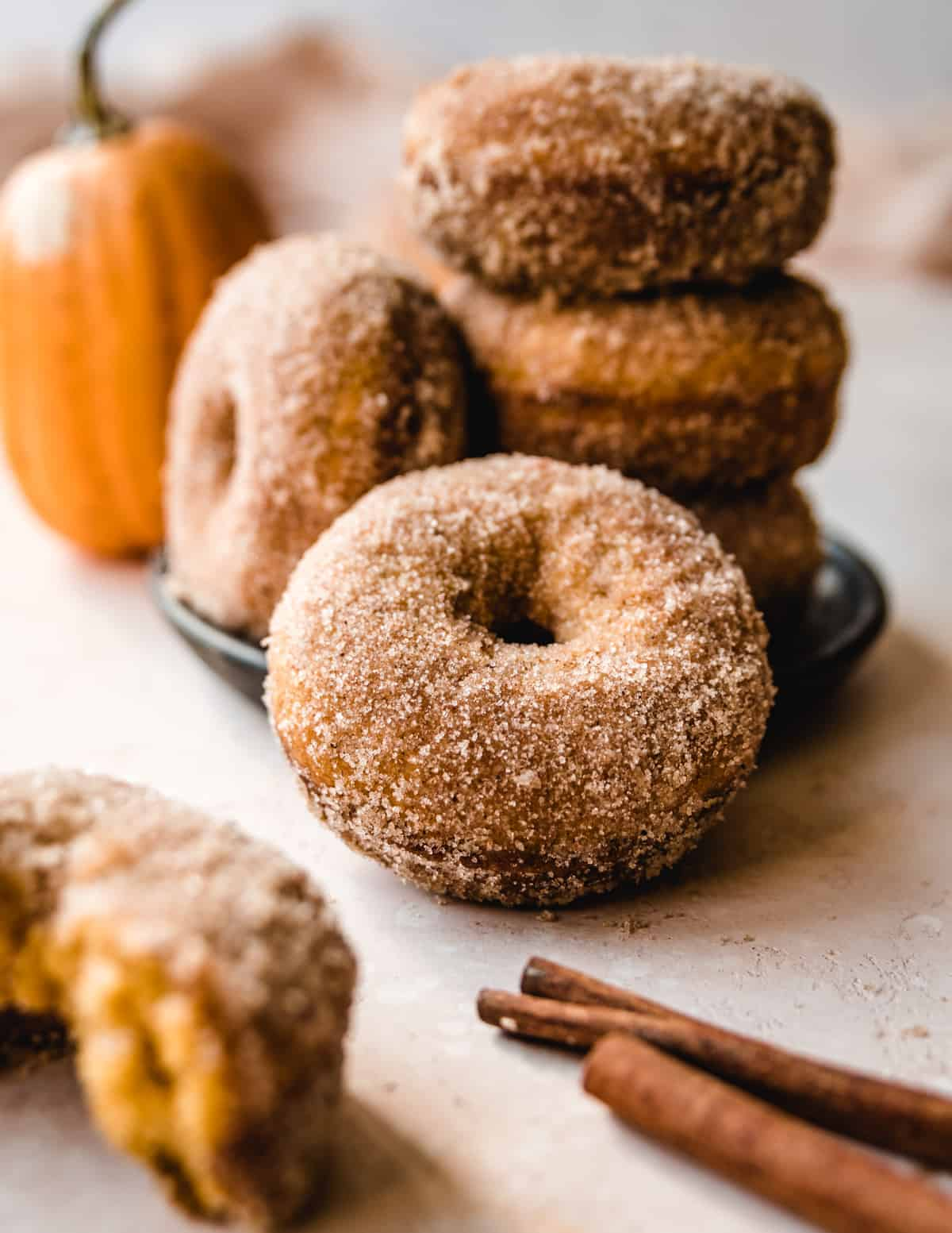 Enjoy these baked pumpkin donuts for breakfast before you head to the pumpkin patch.